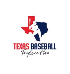 baseball sports inspiration logo in texas vector image