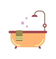 Bath tub flat icon vector