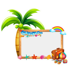 Border template with summer theme vector