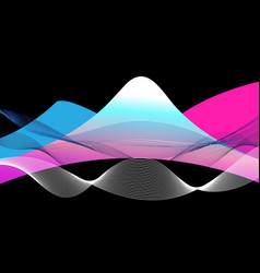 bright mountains and waves vector image