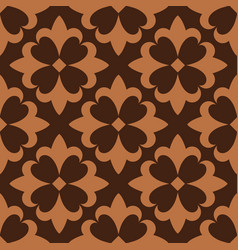 Brown french ornamental ceramic tile vector
