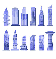 building skyscraper city skyline and vector image