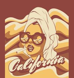 California hand drawn smoking vector