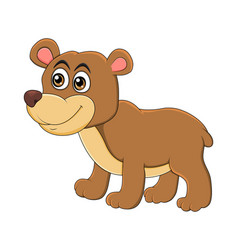 cartoon bear animal isolated on white background vector image