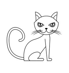 Cat animal icon vector