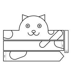 Cat coloring headband vector