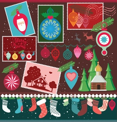christmas design collection vector image