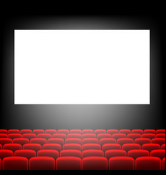 Cinema screen with screen vector