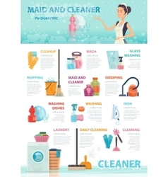 Cleaning Infographic Concept vector