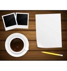 Coffee cup white paper vector