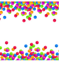 colorful background with flower confetti vector image