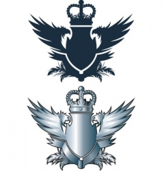 crown and iron wings vector image
