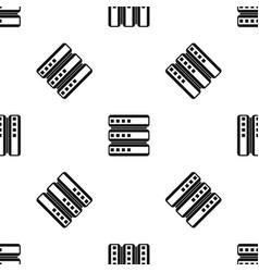 database pattern seamless black vector image