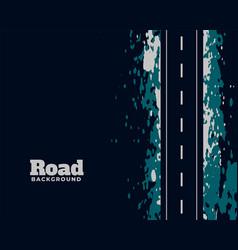 Dirty asphalt street grunge road background design vector