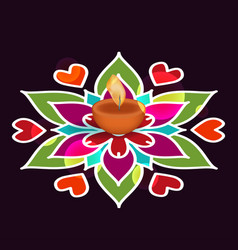 Diwali holiday background vector