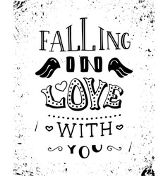 Falling in love with you vector
