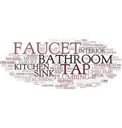 Faucet word cloud concept vector