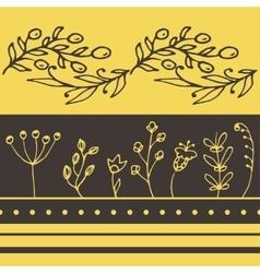 floral horisontal seamless pattern vector image