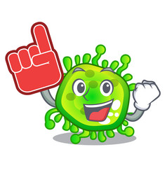 foam finger virus cells bacteria microbe isolated vector image