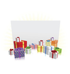 Gifts and sign concept vector