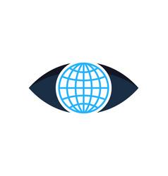 globe eye logo icon design vector image
