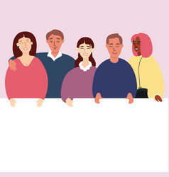 group of people flat vector image