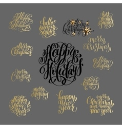 Hand lettering christmas phrase design collection vector