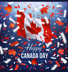 happy canada day greeting card vector image