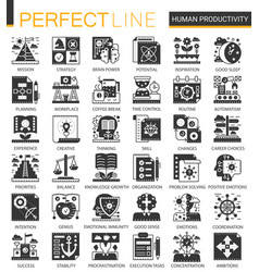 Human productivity classic black mini vector