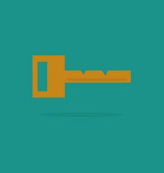 key icon key flat vector image
