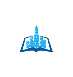 landscape book logo icon design vector image