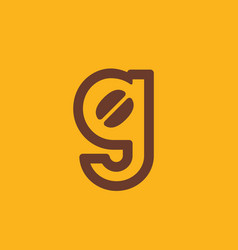 letter g coffee logo icon design template elements vector image