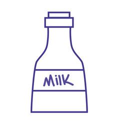 Line fresh milk bottle product nutrition vector