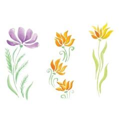 Little beautiful watercolor floral bouquet vector