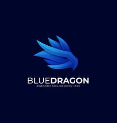 Logo blue dragon gradient colorful vector