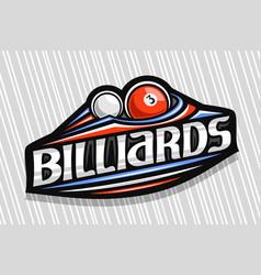 Logo for billiards vector