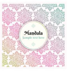 Mandala pattern background decorative design vector