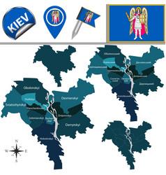 Map kiev ukraine vector