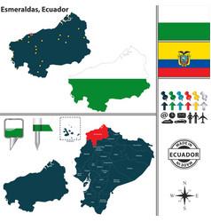 Map of esmeraldas ecuador vector