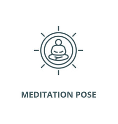 meditation pose line icon linear concept vector image