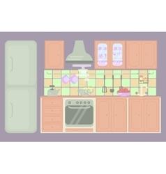Modern home interior vector