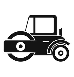 Modern road roller icon simple style vector