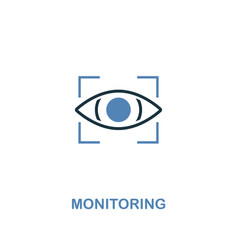monitoring icon in two colors premium design from vector image