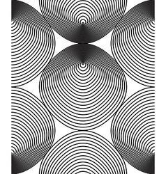 Monochrome stripy endless pattern art continuous vector