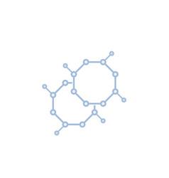 Nano structure icon vector