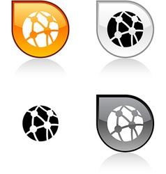 Network button vector