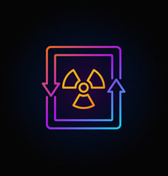 nuclear energy concept colorful icon vector image