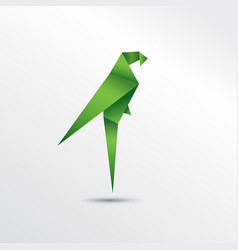 origami parrot vector image