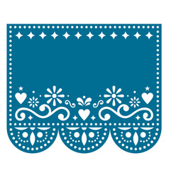 papel picado template design with no text vector image