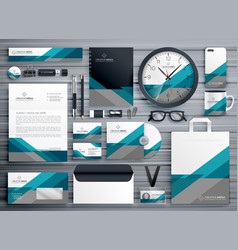 Professional business stationery design made vector